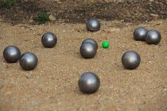 Bollar för petanque Royaltyfri Bild