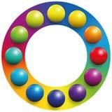 Bollar för regnbåge för ram för färgspektrum stock illustrationer