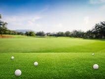 bollar golf gräsgreen royaltyfria foton