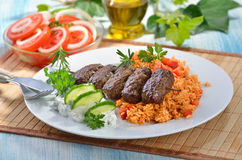 bollar grillade meat Royaltyfri Foto