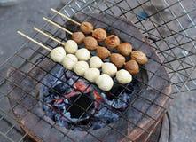bollar grillade meat Fotografering för Bildbyråer