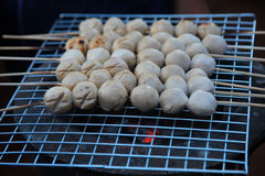 bollar grillade meat Royaltyfria Bilder