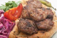 bollar grillade meat Royaltyfri Bild