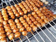 bollar grillade meat Arkivfoton