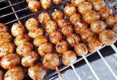 bollar grillade meat Arkivfoto