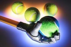 bollar hand robotic tennis Royaltyfria Foton