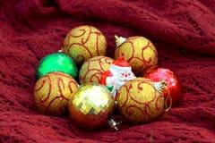 Bollar och Santa Claus Arkivbild