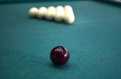 Bollar på en billiardtabell Royaltyfri Foto