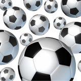 bollar som flyger fotboll Arkivfoto