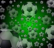 bollar som flyger fotboll Royaltyfri Foto