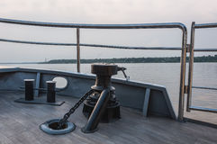 Bollard chain deck ship Royalty Free Stock Image