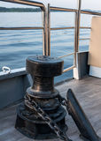 Bollard chain deck ship Royalty Free Stock Photo