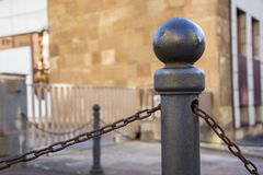 Bollard and chain 13 Royalty Free Stock Photography