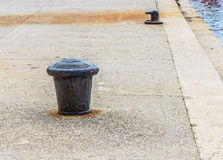 Bollard for mooring. Of yachts and boats Stock Images