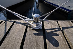 Bollard on a pier Stock Photography