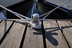 Bollard on a pier stock photography