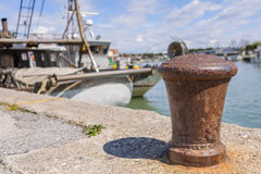 Bollard in port Stock Photos