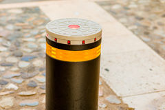 Bollard. With reflector and LEDs royalty free stock photo