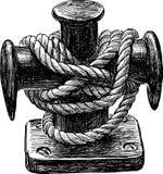 Bollard of sailing ship royalty free illustration