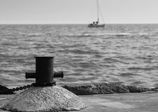 Gone sailing BW Royalty Free Stock Photography