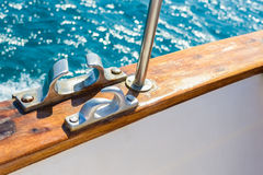 Bollard on yacht Stock Images