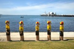 Bollards in Gellong, Australia Royalty Free Stock Images