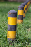 Bollards. In grassland in summer Stock Images