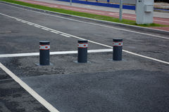 Bollards for limiting movement Royalty Free Stock Photo