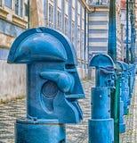 Bollards in Malostranske namesti in Prague Royalty Free Stock Images