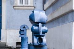 Bollards in Malostranske namesti in Prague Royalty Free Stock Photo