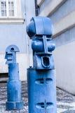 Bollards in Malostranske namesti in Prague Stock Photography