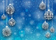 Bollbakgrund för glad jul Royaltyfri Foto