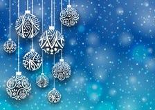 Bollbakgrund för glad jul Fotografering för Bildbyråer