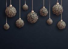 Bollbakgrund för glad jul Arkivfoton