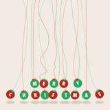 Bollbakgrund för glad jul Royaltyfria Foton
