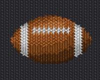 Bollbroderi för amerikansk fotboll på tyg Arkivbilder