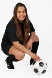 bolldomarefotboll Fotografering för Bildbyråer