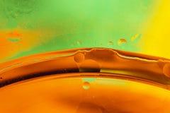 Bolle astratte dell'acqua e del petrolio Fotografie Stock Libere da Diritti