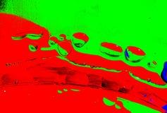 Bolle astratte dell'acqua e del petrolio Fotografia Stock Libera da Diritti