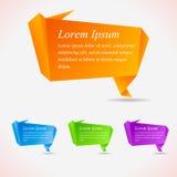 Bolle astratte di discorso. Origami freddo Immagine Stock