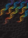 Bolle astratte di torsione dell'estratto del Rainbow Fotografie Stock Libere da Diritti