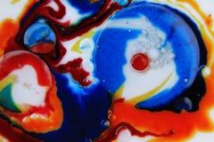 Bolle astratte macro Fotografie Stock Libere da Diritti