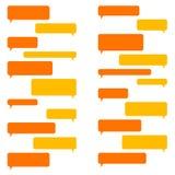Bolle in bianco di chiacchierata per messaggio di Smartphone Vettore Immagine Stock Libera da Diritti
