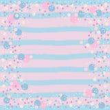 Bolle blu e bianche di rosa, illustrazione vettoriale