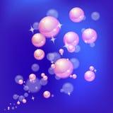 Bolle brillanti del fondo astratto Fotografia Stock