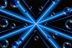 Bolle con il disegno blu Fotografia Stock Libera da Diritti
