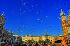 Bolle a Cracovia Amore a Cracovia Fotografia Stock