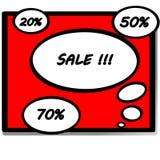 Bolle dei fumetti con la vendita dell'iscrizione illustrazione di stock