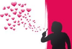 Bolle del cuore Fotografie Stock