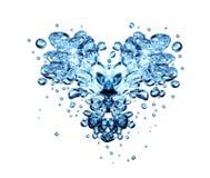 Bolle dell'acqua del biglietto di S. Valentino Immagine Stock Libera da Diritti